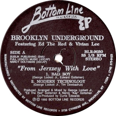 Brooklyn Underground Featuring Ed The Red & Vivian Lee - From Jerzzey With Love EP