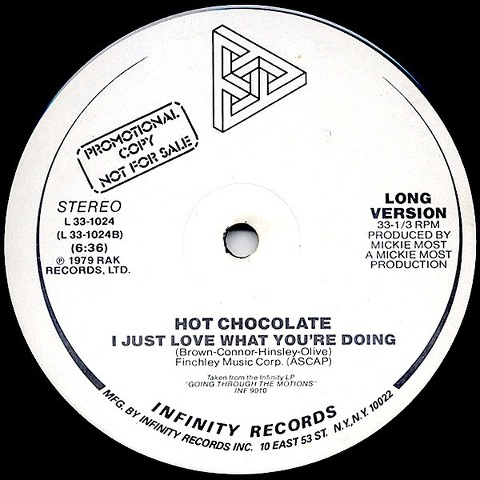 Hot Chocolate - I Just Love What You're Doing