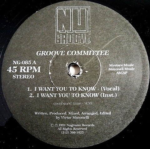Groove Committee - I Want You To Know